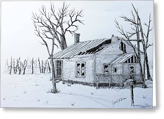 Repaired Drawings Greeting Cards - South Shore Place Greeting Card by Jack G  Brauer