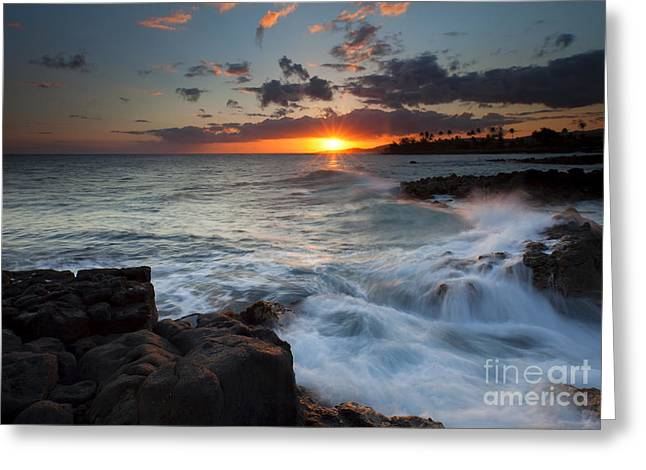 Poipu Greeting Cards - South Shore Waves Greeting Card by Mike  Dawson
