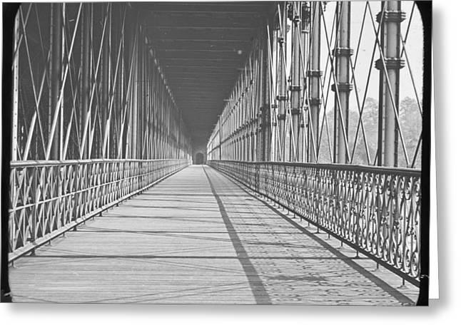 South Philadelphia Greeting Cards - South Street Bridge Philadphia Pennsylvania c1925 Greeting Card by A Gurmankin