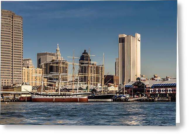 Pier 17 Greeting Cards - South Street Seaport Greeting Card by David Hahn