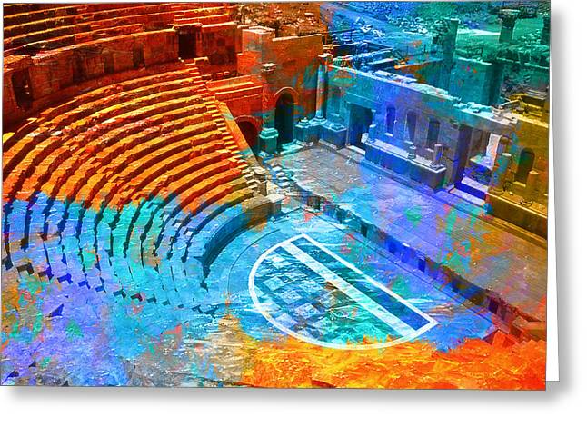 Essaouira Greeting Cards - South Theatre Jordan Greeting Card by Catf