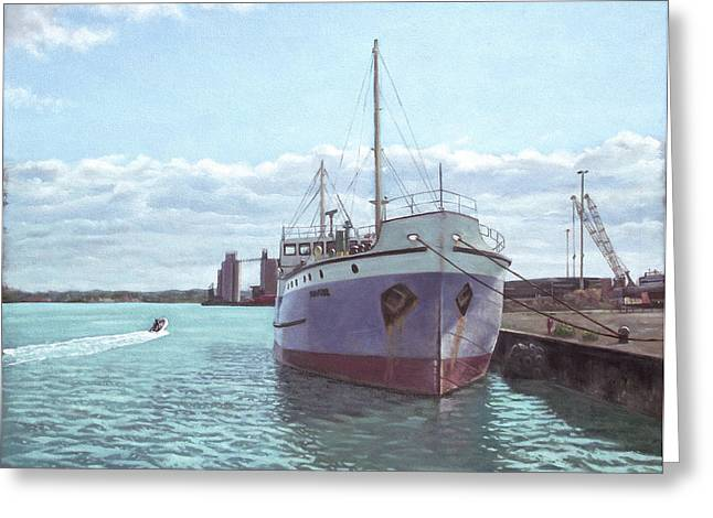 Steam Ship Greeting Cards - Southampton docks SS Shieldhall ship Greeting Card by Martin Davey