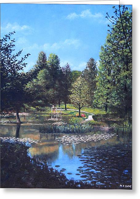 Southampton Water Paintings Greeting Cards - Southampton Hillier Gardens late summer Greeting Card by Martin Davey