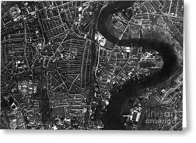 Post-war Greeting Cards - Southampton, Historical Aerial Photograph Greeting Card by Getmapping Plc