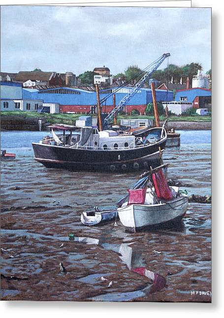 Boats On Water Greeting Cards - Southampton Northam boats Greeting Card by Martin Davey