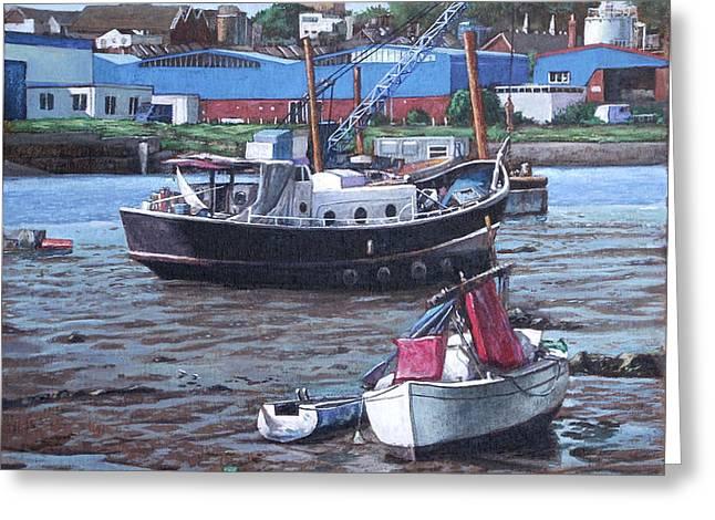Southampton Northam boats Greeting Card by Martin Davey