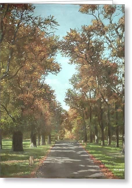 Southampton Paintings Greeting Cards - Southampton Palmerston park Greeting Card by Martin Davey