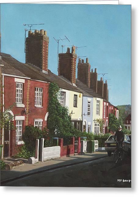 Small House Greeting Cards - Southampton Rockstone Lane Greeting Card by Martin Davey