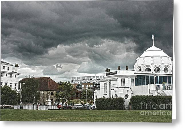 Southampton Royal Pier Hampshire Greeting Card by Terri  Waters