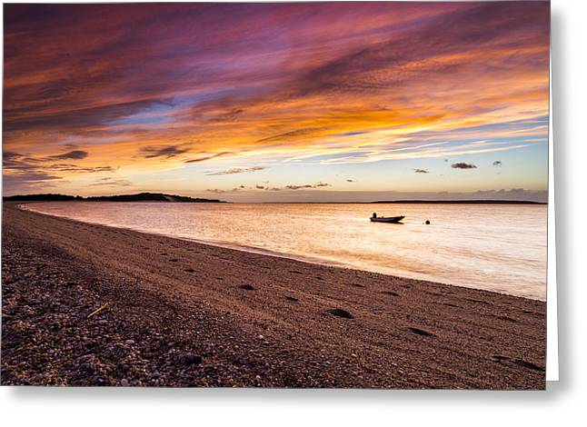 York Beach Photographs Greeting Cards - Southampton Shores Sunset Greeting Card by Ryan Moore