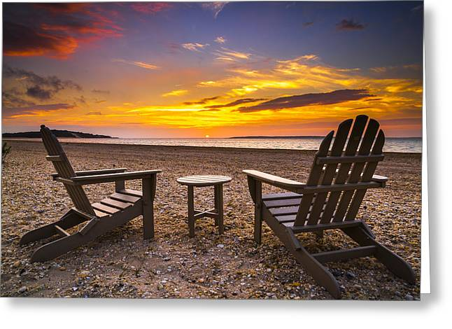 York Beach Photographs Greeting Cards - Southampton Shores View for 2 Greeting Card by Ryan Moore