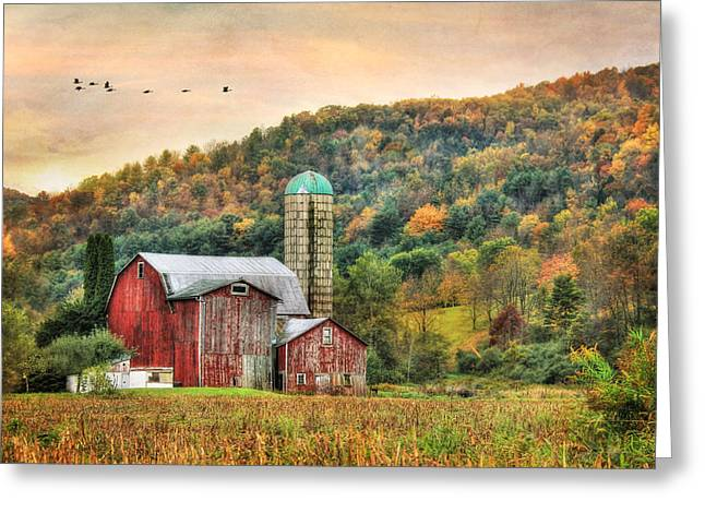 Barn Digital Greeting Cards - Southbound Greeting Card by Lori Deiter
