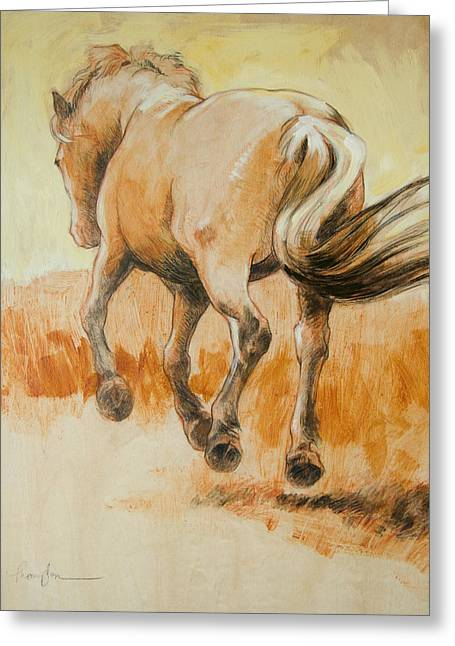 Horse Drawings Greeting Cards - Southbound Greeting Card by Tracie Thompson