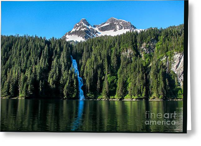 Tongass Greeting Cards - Southeast Alaska Waterfall Greeting Card by Robert Bales