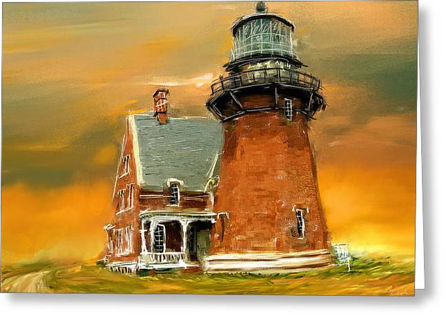 New England Ocean Greeting Cards - Southeast Glow Greeting Card by Lourry Legarde