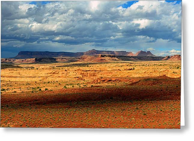 Southeastern Greeting Cards - Southeastern Utah desert panoramic Greeting Card by David Lee Thompson