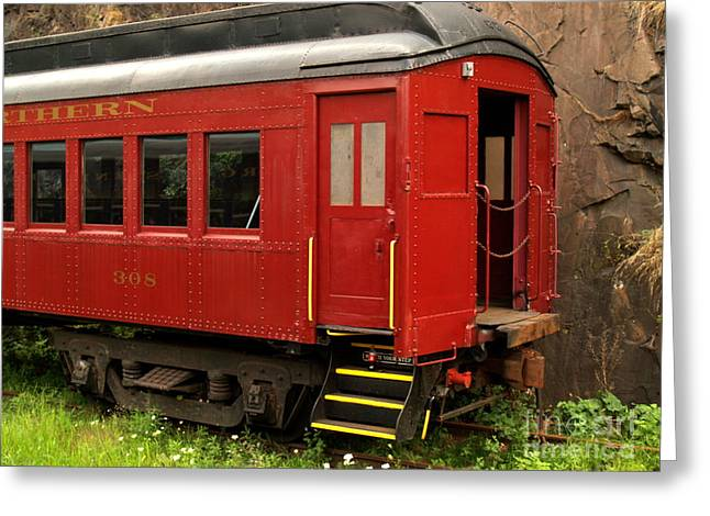 Old Caboose Greeting Cards - Southern and Northern Rail Car -- Jim Thorpe PA Greeting Card by Anna Lisa Yoder