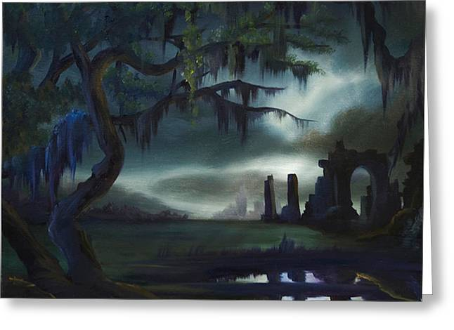 Cemetary Paintings Greeting Cards - Southern Arch Greeting Card by James Christopher Hill