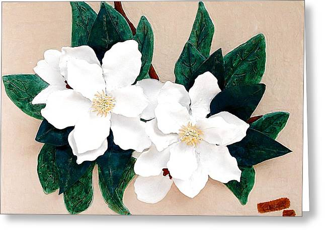 Blossom Reliefs Greeting Cards - Southern Beauty Greeting Card by Alberto H-B