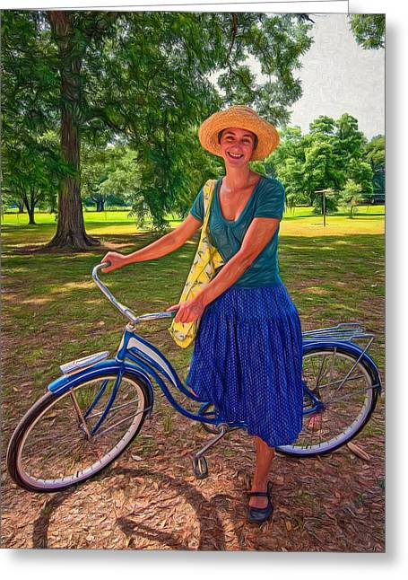 Sun Hat Greeting Cards - Southern Belle - Paint Greeting Card by Steve Harrington