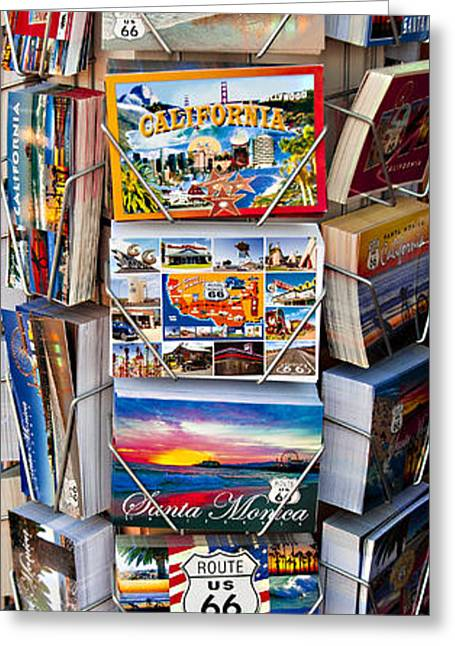 California Beach Art Greeting Cards - Southern California Beach Post Card Rack Original Fine Art Photograph Print And Poster Greeting Card by Jerry Cowart