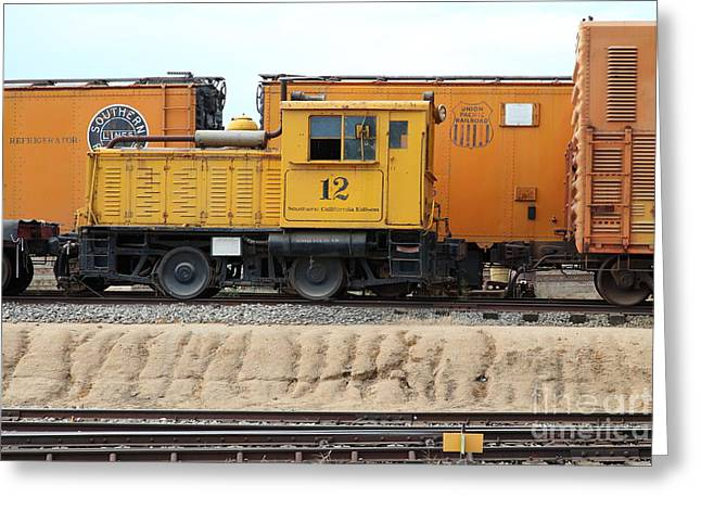 Southern California Edison 12 Model Ml6 Gasoline Mechanical Locomotive 5d28347 Greeting Card by Wingsdomain Art and Photography