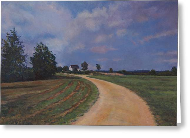 Md Paintings Greeting Cards - Southern Charles County Landscape Greeting Card by David P Zippi