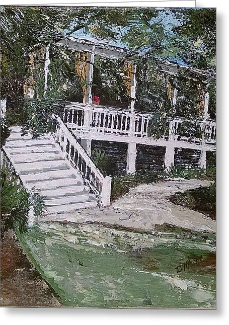 Pallet Knife Greeting Cards - Southern Charm Greeting Card by Donna Mann