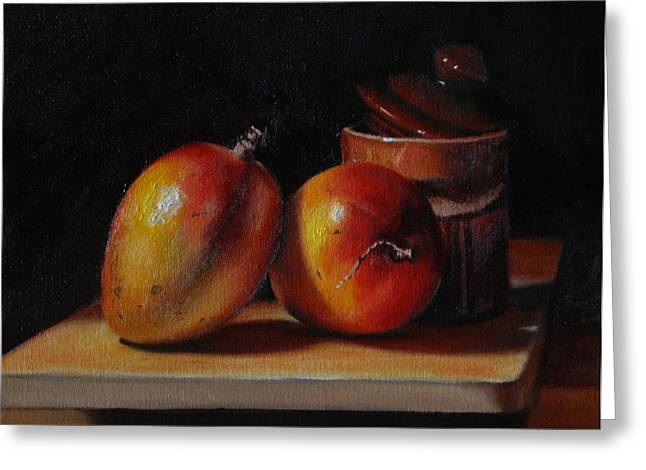 Mango Paintings Greeting Cards - Southern Comfort  Greeting Card by Dan Petrov