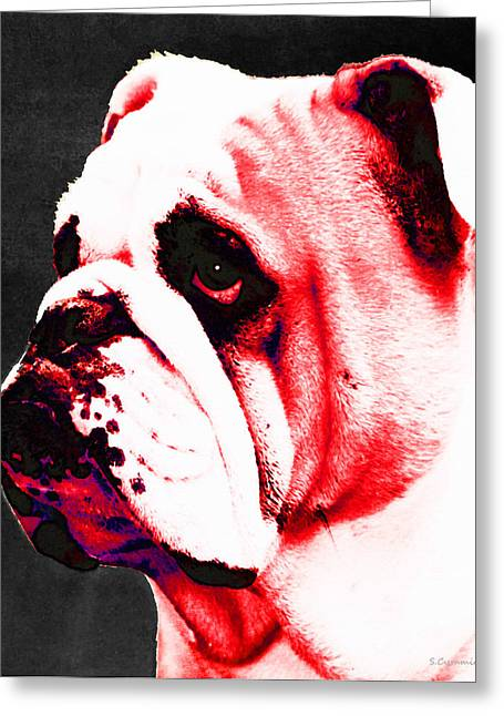 Bulldog Prints Greeting Cards - Southern Dawg By Sharon Cummings Greeting Card by Sharon Cummings