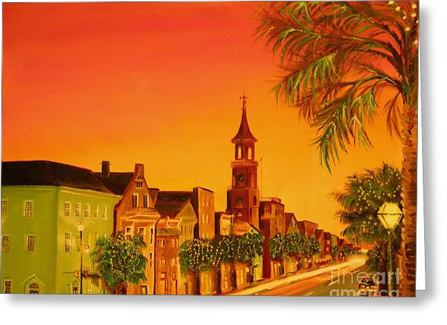 Recently Sold -  - Van Dyke Brown Greeting Cards - Southern Eve Greeting Card by Barbara Hayes