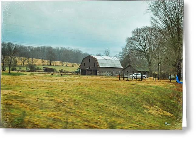 Pioneer Homes Digital Greeting Cards - Southern Farm Greeting Card by Paulette B Wright