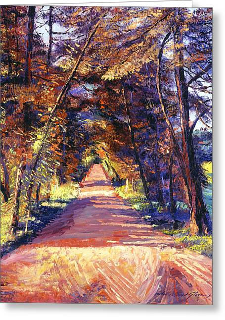 Autumn Landscape Paintings Greeting Cards - Southern France Country Greeting Card by David Lloyd Glover