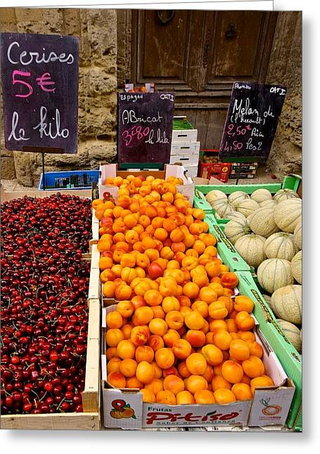Local Food Greeting Cards - Southern France Produce Market Greeting Card by Blair Seitz