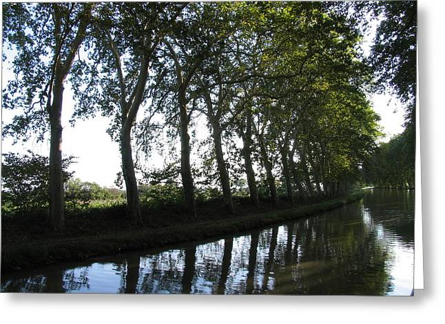 Midi Greeting Cards - Southern Frances Canal du Midi Greeting Card by Penelope Aiello