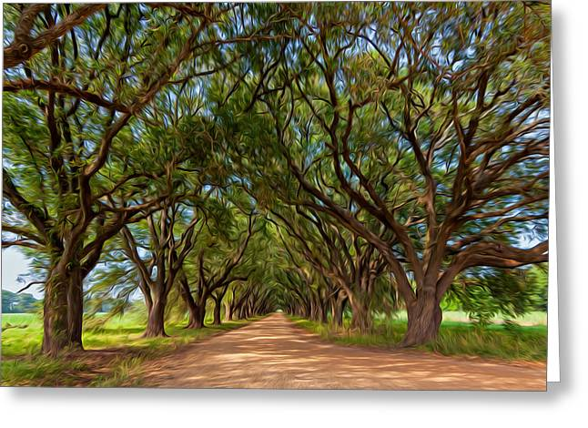Overhang Digital Art Greeting Cards - Southern Journey - Oil Greeting Card by Steve Harrington