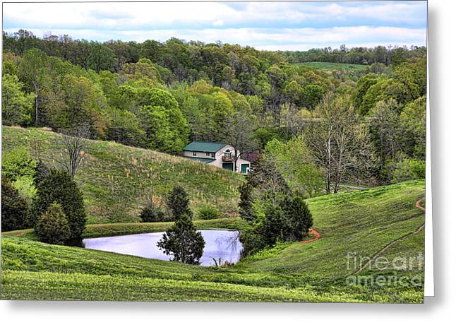 Tennessee Barn Greeting Cards - Southern Landscapes III Greeting Card by Chuck Kuhn