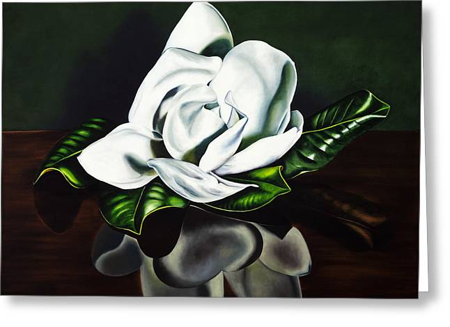 Flower Blossom Greeting Cards - Southern Magnolia Greeting Card by Kerri Meehan