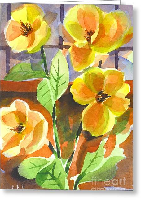 Green And Yellow Greeting Cards - Southern Magnolias Greeting Card by Kip DeVore