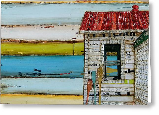 Shack Greeting Cards - Southern Maine Beach Shack Greeting Card by Danny Phillips