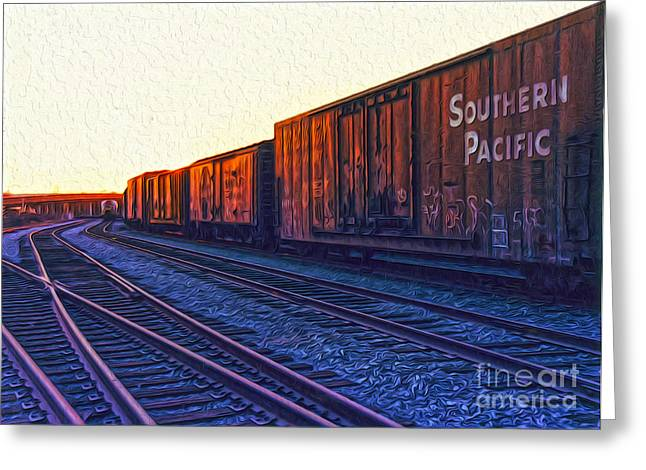 Gregory Dyer Greeting Cards - Southern Pacific Greeting Card by Gregory Dyer