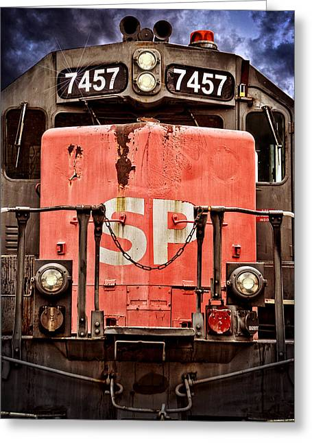 Division Greeting Cards - Southern Pacific Power Greeting Card by Ken Smith