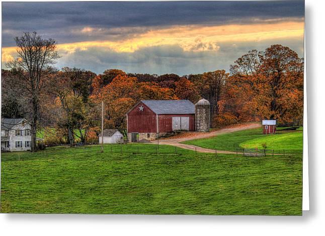 Southern Pennsylvania Greeting Card by Sharon Batdorf