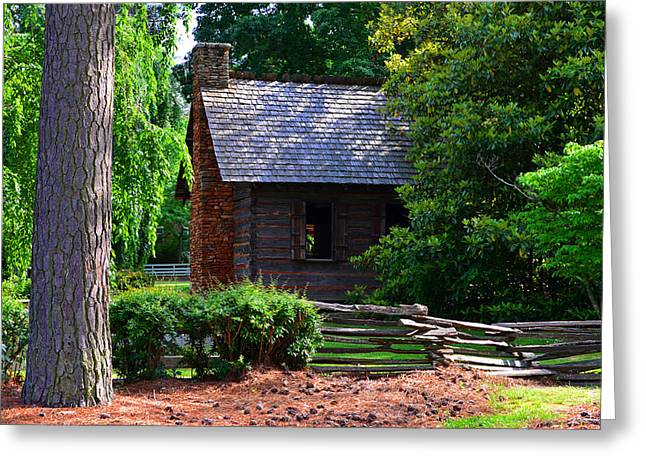 Old Cabins Greeting Cards - Southern pioneer cabin Greeting Card by David Lee Thompson