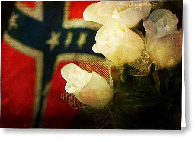 Confederate Flag Greeting Cards - Southern Remembrance Greeting Card by Leah Moore