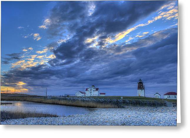 Points Greeting Cards - Southern RI Sunrise Greeting Card by Jeff Bord