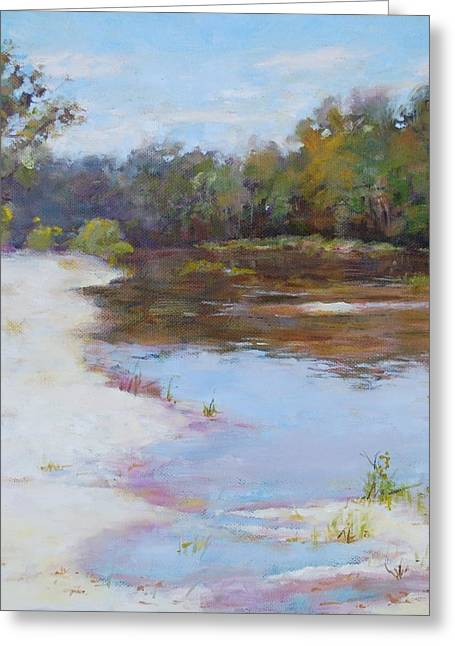 Louisiana Pastels Greeting Cards - Southern River Greeting Card by Nancy Stutes