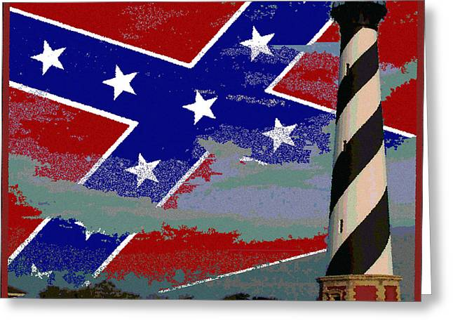 Confederate Flag Greeting Cards - Southern Skies Greeting Card by George Stephens