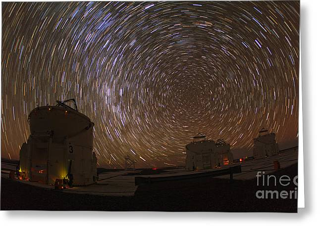 Startrails Greeting Cards - Southern Sky Rotation Greeting Card by Babak Tafreshi
