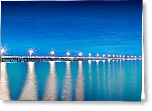 Hut Greeting Cards - Southern Star Lights Greeting Card by Az Jackson
